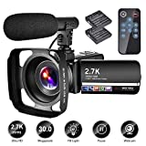 Best Camcorders - Video Camera Camcorder with Microphone YouTube Camera Recorder Review