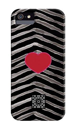 Case Mate CMIMMCI5004024, Motivo zebrato di iomoi Barely There Designer Cases-Cover per Apple iPhone 5