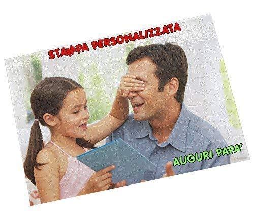 - Senza marca/Generico - Puzzle Personalizzato Personalizzabile Stampa 96 TASSELLI Rettangolare A4 Foto Immagine Fotografia Idea Regalo Festa del Papa' Auguri papà