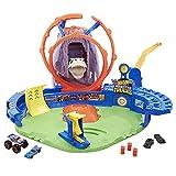 Hot Wheels Monster Trucks Volcán Arena, pista de coches de juguete, incluye 1 vehículo Monster Trucks y 1 die-cast (Mattel GYL14)