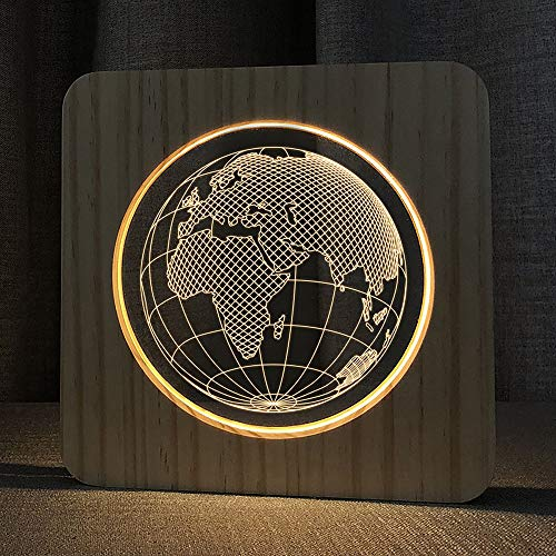 Customized Night Light Moon Lamp Bedroom USB 3D Night Light Wooden Acrylic Eye Caring Led Baby Rest Night Lamp for Lovers Parents Friends