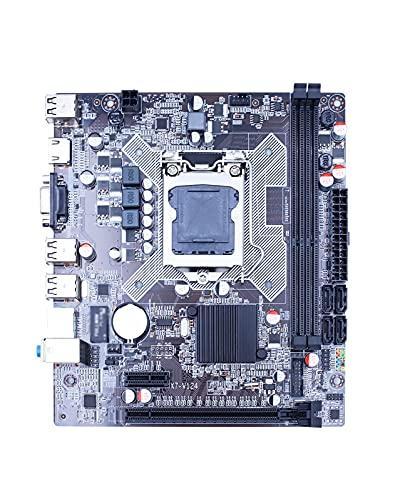 GIAO H61 Apto Fit for LGA 1155 Placa Base DDR3 de Doble Canal de Memoria 16G para Intel LGA1155 Core I3 I5 I7 Xeon CPU Placa Base de computadora Placa Mae