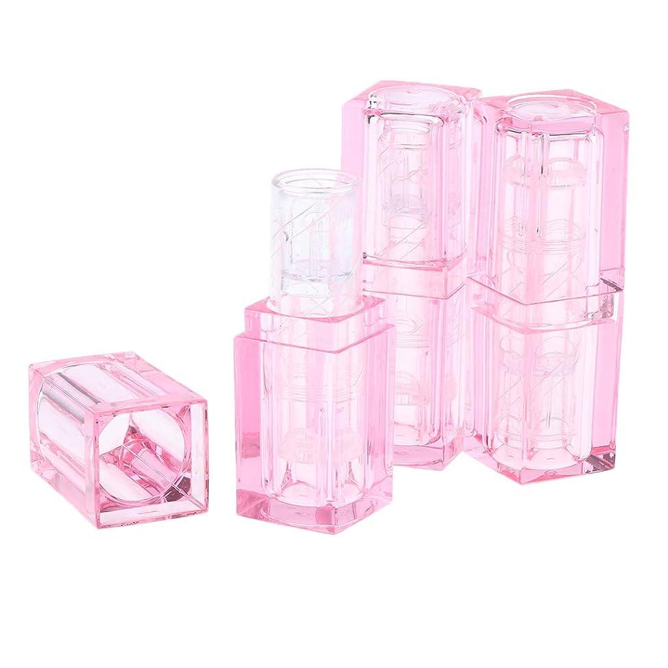 間違っているインタネットを見る巻き取りP Prettyia 3個 口紅チュ??ーブ DIY リップクリー 口紅ボトル メイクアップ 2色選べ - ピンク