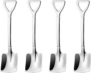 JUFEN Teaspoons Shovel Dessert Spoons Stainless Steel Coffee Spoon Honey Stirring Mixing Spoons for Cake Sugar Ice Cream F...