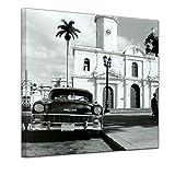 Wandbild - Oldtimer - Kuba - Bild auf Leinwand 60 x 60 cm -