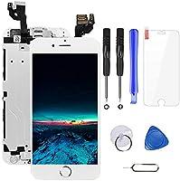 Ecran LCD Vitre Tactile Complet sur Châssis pour iPhone 6 Blanc avec Outils Bouton Home Écouteur Interne Caméra De Face...