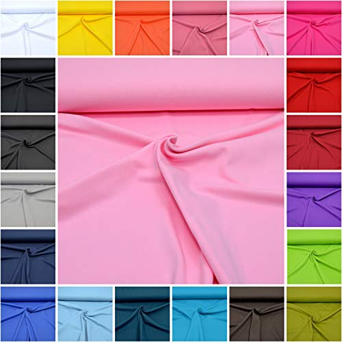 MAGAM-Stoffe Micha Interlock Jersey Uni 100% Baumwolle Oeko-Tex Meterware 50cm (05. Rosa)