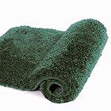 Walensee Bathroom Rug Non Slip Bath Mat for Bathroom (16 x 24, Hunter Green) Water Absorbent Soft Microfiber Shaggy Bathroom Mat Machine Washable Bath Rug for Bathroom Thick Plush Rugs for Shower
