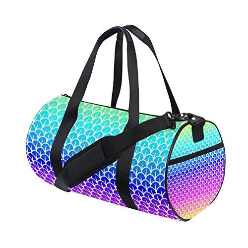 ISAOA Bolsa de gimnasio báscula colores arcoíris deportes bolsa de deporte para mujeres y hombres