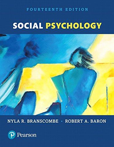Social Psychology (14th Edition)