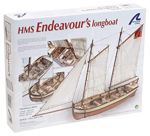 Artesania Latina - Lancha del capitán del HMS Endeavour