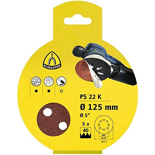 Klingspor PS 22 K SB-förpackad slipskiva/kardborrband SB-förpackad   Ø 115 mm (ostan)   25 stycken   korn/korn: 40 (25 tallrikar)