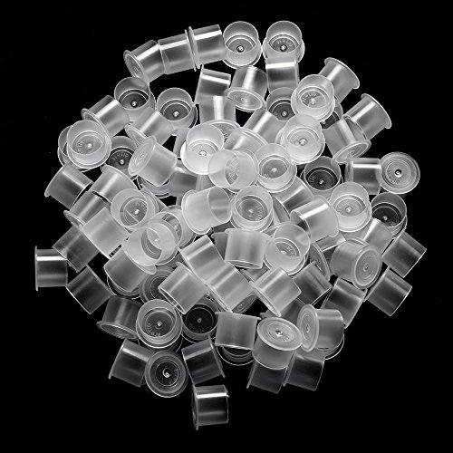 ATOMUS 300Pcs Tattoo Ink Cups with Base Pigment Cups Mixed Small Medium Large Ink Container for Tattoo Kit Tattoo Supplies