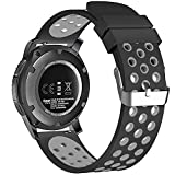 22mm Smart Watch Bands, FanTEK Silicone Sport Quick Release Strap for Samsung Galaxy Watch 3 45mm / Galaxy Watch 46mm / Gear S3 Frontier & Classic/Pebble Time Steel/Moto 360 for Men 2nd Gen 46mm
