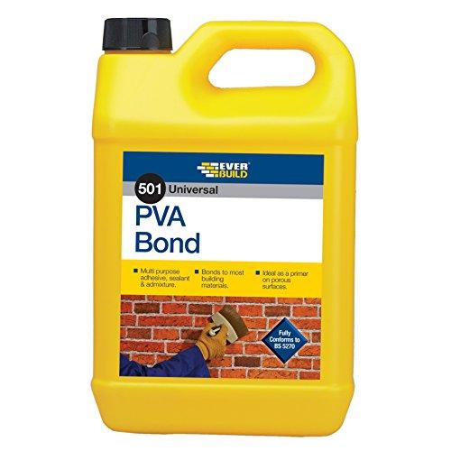 Everbuild PVA5L 501 - Agente adesivo universale in PVA, 5 l