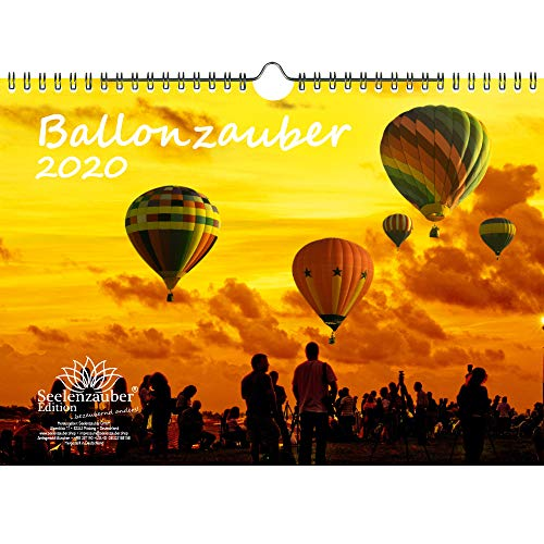 Ballonzauber DIN A4 Kalender 2020 Heißluftballon - Seelenzauber