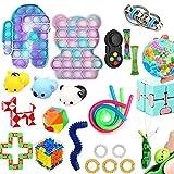 Sensory Fidget Toys Set, Anti-Stress Spielzeug Toy, Push Bubble Pop Sensory Toy Pack, Stress Relief...