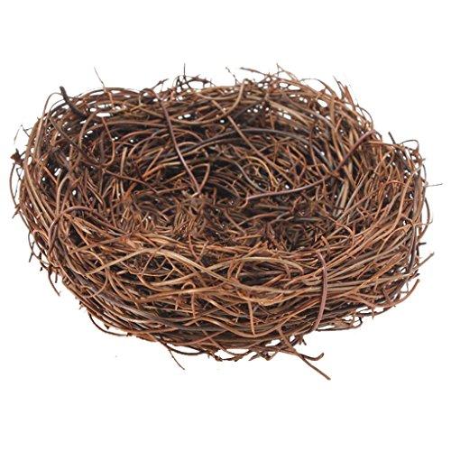 Handmade Bird Nest House Craft Decoration - Vine Twig for Wedding Party Decor (8cm)