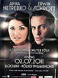 Anna Netrebko+Erwin Schrott Köln 2011 Konzert-Poster A1