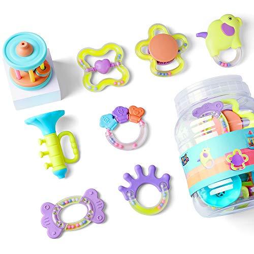 iPlay iLearn Baby Rattles Set,...