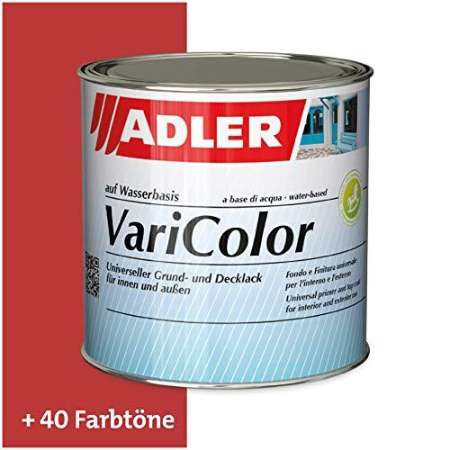ADLER Varicolor 2in1 Acryl Buntlack für Innen und Außen - 125 ml RAL3020 Verkehrsrot Rot - Wetterfester Lack und Grundierung für Holz, Metall & Kunststoff - Seidenmatt