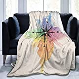 Blanket Rainbow Compass Ancient Rome Bed Manta De Manta Ultra Suave Manta De Franela Sofá Casa Todas Las Estaciones Sofá Coche Dormitorio Hotel Interior 102X127Cm