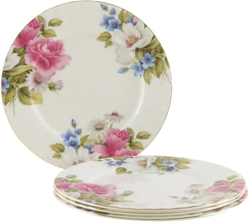 Gracie Spasm price Bone China 7-1 2-Inch Dessert Pink Rose Animer and price revision S Grace's Plate