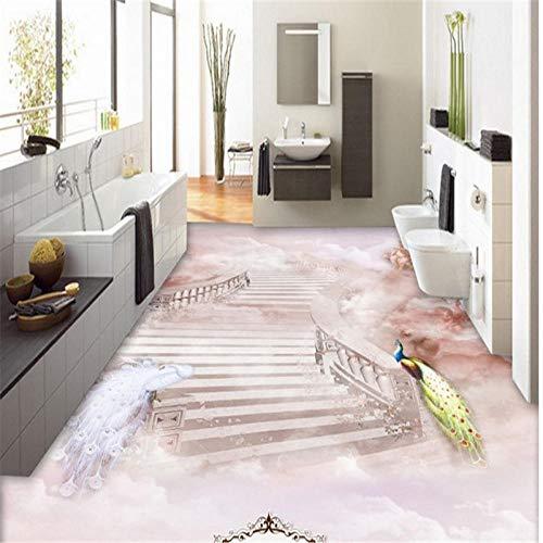3D-vloerbedekking met grote gebruikergedefinieerd mooie Fairyland Hd, waterdichte draagbare vloerverf, decoratief schilderen, zelfklevend pvc 250cm(L) x180cm(W)