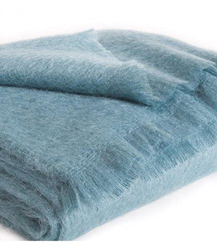 Plaid Mohair Bleu Vert 140 X 180 cm