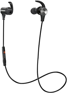 Bluetooth Headphones, TaoTronics Wireless 4.1 Magnetic Earbuds, Bluetooth Earphones Snug Fit for Sports with Built in Mic TT-BH07 (IPX5 Waterproof, aptX Stereo, 6 Hours Playtime, Noise Cancelling Microphone)
