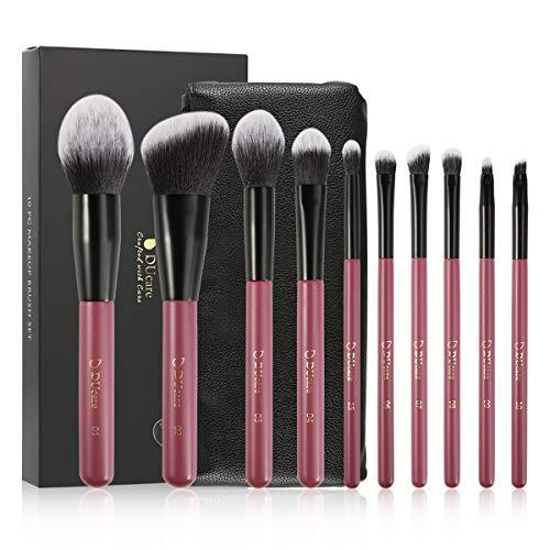 10 Pinceaux De Maquillage - Maquillage Des Yeux Fort Blush Fond De Teint Liquide, Kit De Maquillage Professionnel Avec Sac