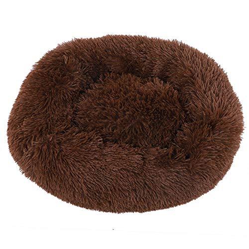 Jeanoko Cama de gato lavable marrón para mascotas invierno resto