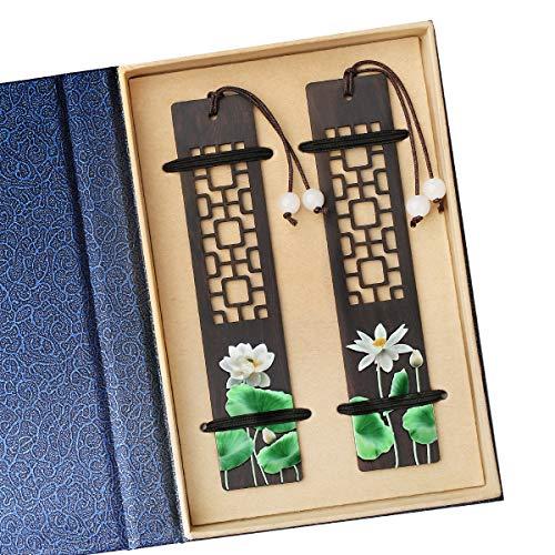 Toirxarn手作りの木製のしおり、女性/男性/友人/女の子/教師への理想的なギフト、誕生日プレゼント。天然木、塗装工芸品。