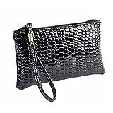 OSYARD Frauen Krokodil Leder Clutch Handtasche Tasche Lange Reißverschluss Geldbörse Mappen Handhandtasche Handytasche der Frauen