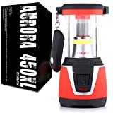 Internova Aurora 450XL - 360 Degree Duel Colored LED Camping and Emergency Lantern with Remote - Backpacking - Hiking - Auto - Home - College (Sunset Red)