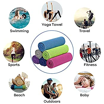 KEAFOLS Serviette Microfibre 30x50cm 2 Pcs Rapidement sèche Serviette de Sport Serviette Voyage Parfaite Plage, Camping , randonnées, Yoga, Natation