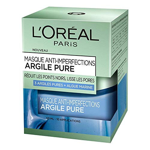 L'Oréal Paris – Masque anti-imperfections pour le visage – Argile pure – Anti-imperfections – 50 ml