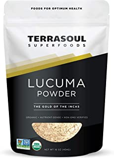 Terrasoul Superfoods Lucuma Powder (Organic), 16 Ounce