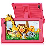 Kids Tablet Android 10, JEEMAK 7 inch Toddler Tablet for Kids with Parental Control, 2GB RAM 16GB ROM, WiFi, Dual Camera, Kids Learning Tablets with Educational Apps, Children Tablets Great Gift Pink