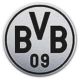 Alu-Dibond mit Silbereffekt BVB Logo Wandbild Wanddeko rund
