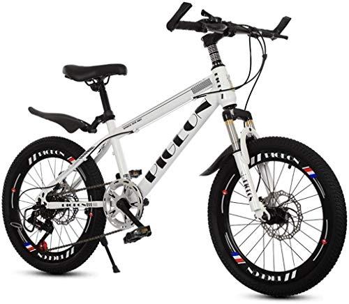 Xiaoyue Fahrräder Kinderfahrrad im Freien Fahrrad for Kinder Kinder Reisen Mountainbike Rennrad Jungen und Mädchen Speed Bikes Studenten Mountainbike (Farbe: weiß, Größe: 20inch) lalay
