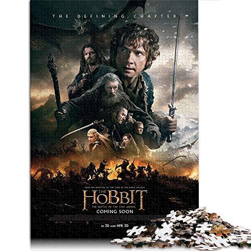 Rompecabezas de 1000 Piezas para Adultos y niños El Hobbit: Batalla de los Cinco ejércitos 1000 Piezas de Rompecabezas clásico Juego Familiar Juguete Educativo Regalo 38 * 52 cm-Póster de película