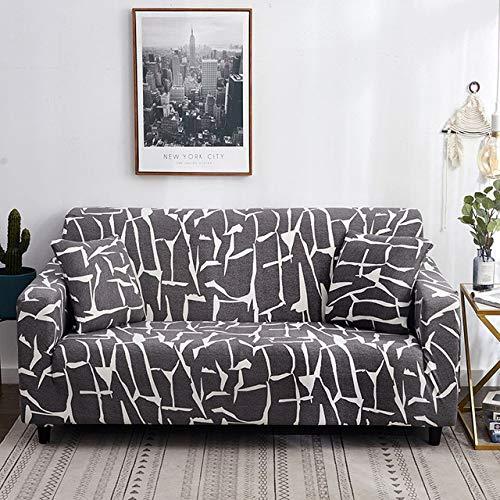PCNJ Sofabezug Spandex Für Wohnzimmer Stretch Leder Couchbezüge Elasitc Schnittsofabezüge Für Möbel Schutz,Light Grey,3 Seater Sofa Cover