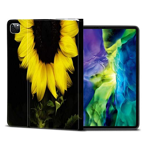 ZIYE iPad Pro Case 11 Inch 2020 & 2018 2nd & 1st Generation with Pencil Holder Sunflower 6 Anti-Scratch Shockproof Kickstand Automatic Wake/Sleep Function Cover