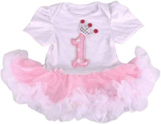Dress for Girls (White and Pink)