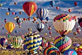 zhangcheng 1000 Rompecabezas de Madera,Globos aerostáticos Volando en el Aire. Excelente artesanía y empaque Exquisito,es una decoración para el hogar,un Buen Regalo para Amigos y Familiares.