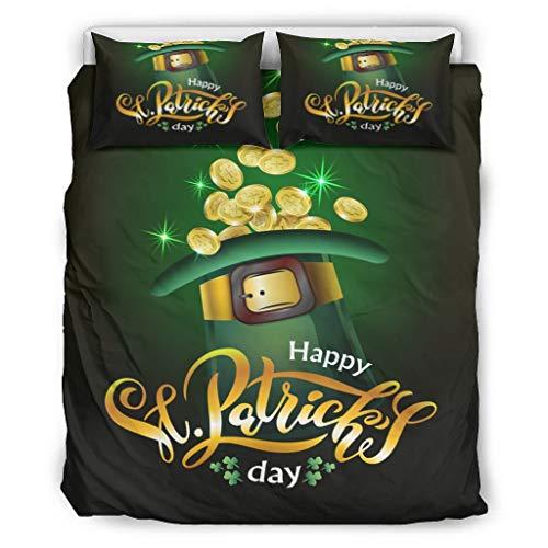 wbinshey Bedding St Patrick's Day - Juego de almohadas decorativas para cama (264 x 228 cm), color blanco