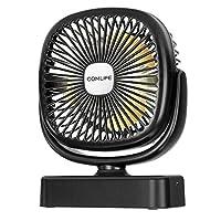 3 in 1 Funktion: Dies ist ein Produkt, das Lüfter, LED-Beleuchtung und Aromatherapie kombiniert. Sie können es verwenden, um die Hitze loszuwerden, oder es wird verwendet, um in schwachem Licht zu leuchten. Mit dem Schwammtank an der Rückseite des Ti...
