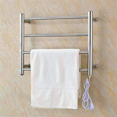Toallero Eléctrico Bajo Consumo Calentador de toallas, toallero caliente, acero inoxidable de pared a prueba de agua Prevención de fugas para baño Ahorro de energía Secadora de toalla Accesorios de ba