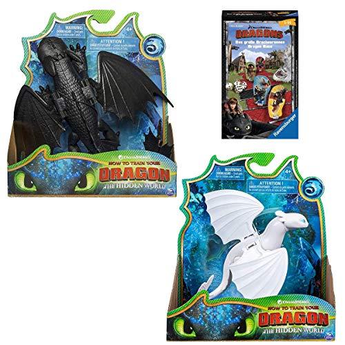 Spar-Set DreamWorks - Dragons - Drachenzähmen leicht gemacht 3 - Ohnezahn/Toothles, Tagschatten/Lightfury Spielset (Spielfiguren Set)